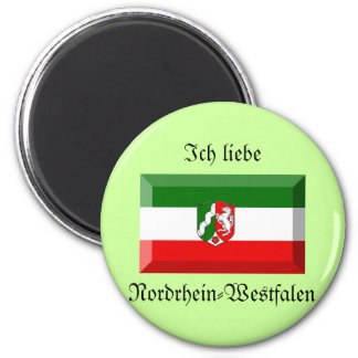 Nordrhein-Westfalen Flag Gem Magnets