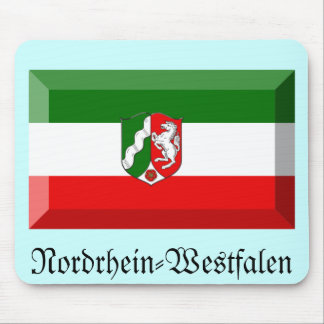 Nordrhein-Westfalen Flag Gem Mouse Pad