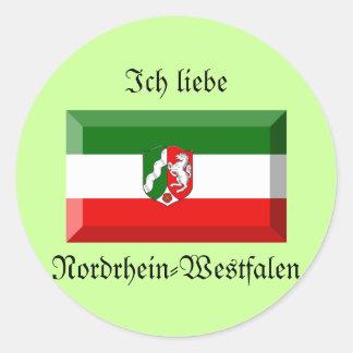 Nordrhein-Westfalen Flag Gem Round Sticker