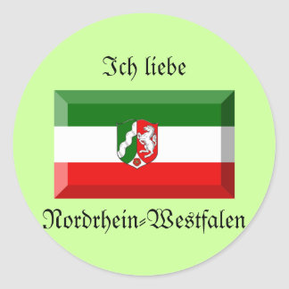 Nordrhein-Westfalen Flag Gem Round Sticker