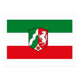 Nordrhein Westfalen Flag Postcard