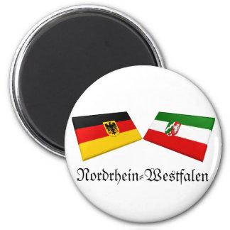 Nordrhein-Westfalen, Germany Flag Tiles 6 Cm Round Magnet