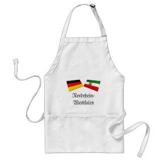 Nordrhein-Westfalen, Germany Flag Tiles Apron