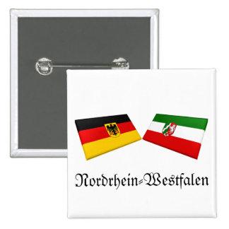 Nordrhein-Westfalen, Germany Flag Tiles Pin