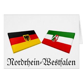 Nordrhein-Westfalen Germany Flag Tiles Card