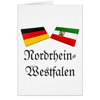 Nordrhein-Westfalen, Germany Flag Tiles Greeting Card