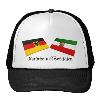 Nordrhein-Westfalen, Germany Flag Tiles Trucker Hat