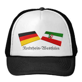 Nordrhein-Westfalen, Germany Flag Tiles Mesh Hat