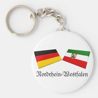 Nordrhein-Westfalen Germany Flag Tiles Key Chains