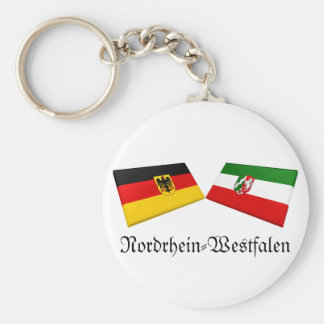 Nordrhein-Westfalen, Germany Flag Tiles Keychain