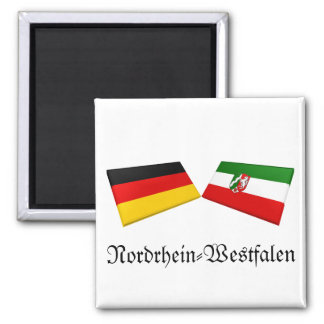 Nordrhein-Westfalen, Germany Flag Tiles Refrigerator Magnets
