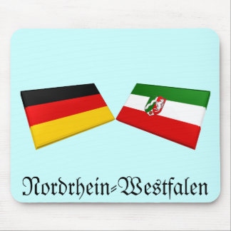 Nordrhein-Westfalen, Germany Flag Tiles Mouse Mats