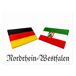 Nordrhein-Westfalen, Germany Flag Tiles Post Card