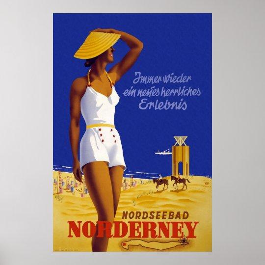 Nordseebad Norderney Poster
