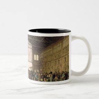 Nordwest Bahnhof, Vienna, 1875 Two-Tone Mug