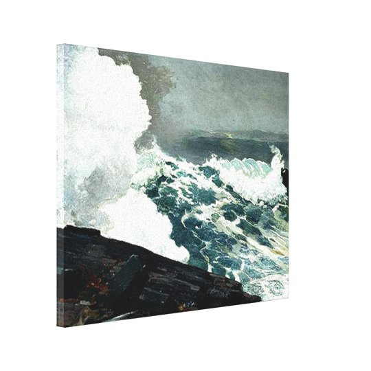 Noreaster - Winslow Homer famous painting Canvas Print