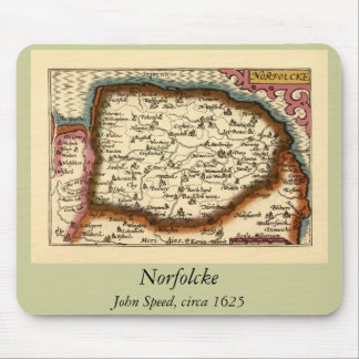 """Norfolcke"" Norfolk County Map Mouse Pad"