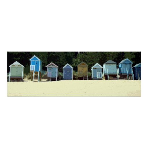 NORFOLK BEACH-HUTS 2 POSTERS