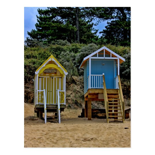 Norfolk Beach Huts Postcard