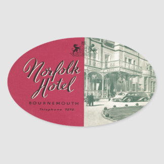 Norfolk Bournemouth Hotel Oval Sticker