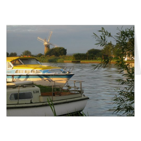Norfolk Broads - Blank Greetings Card