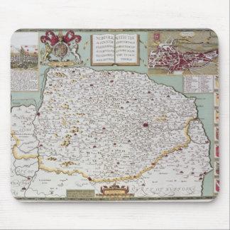 Norfolk, engraved by Jodocus Hondius Mouse Mat