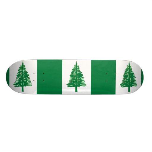 Norfolk Island, Australia flag Custom Skate Board