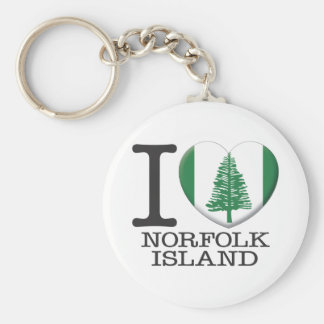 Norfolk Island Basic Round Button Key Ring