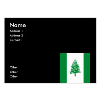 Norfolk Island Large Business Cards (Pack Of 100)