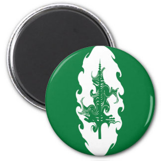 Norfolk Island Gnarly Flag 6 Cm Round Magnet
