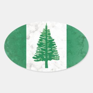 Norfolk Island Oval Sticker
