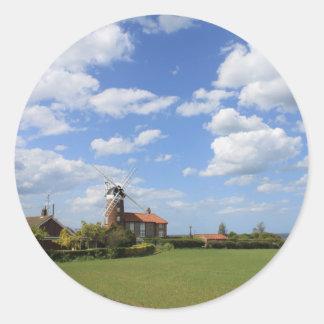 Norfolk Skies Classic Round Sticker