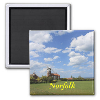Norfolk Skies Square Magnet