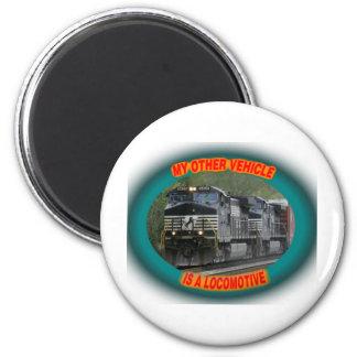 Norfolk & Southern Locomotive 6 Cm Round Magnet