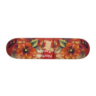 Norfolk Terrier - Autumn Floral Design Skate Decks