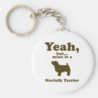 Norfolk Terrier Basic Round Button Key Ring