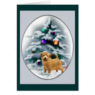 Norfolk Terrier Christmas Gifts Card
