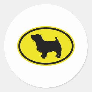 Norfolk Terrier Classic Round Sticker