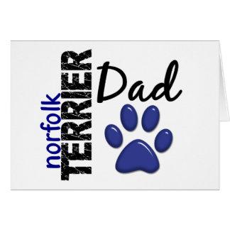 Norfolk Terrier Dad 2 Card