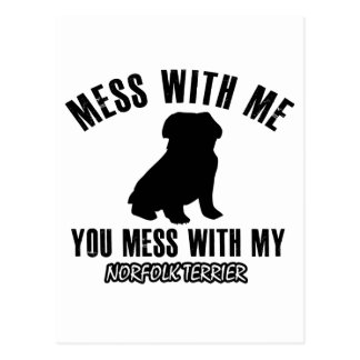 Norfolk terrier designs postcard