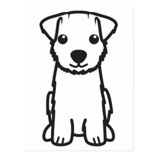 Norfolk Terrier Dog Cartoon Postcard