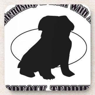 NORFOLK TERRIER DOG DESIGNS BEVERAGE COASTERS
