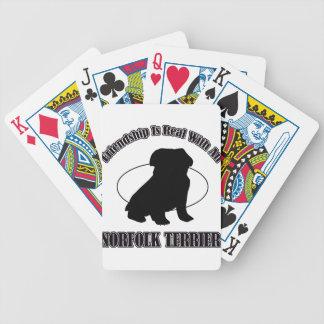 NORFOLK TERRIER DOG DESIGNS POKER CARDS