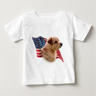 Norfolk Terrier Flag Baby T-Shirt