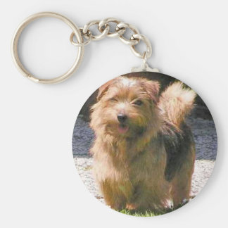 Norfolk terrier full.png basic round button key ring