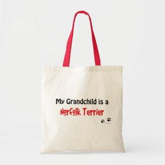 Norfolk Terrier Grandchild Canvas Bags