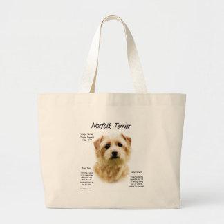 Norfolk Terrier History Design Jumbo Tote Bag