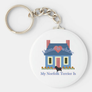 Norfolk Terrier Home Is Basic Round Button Key Ring