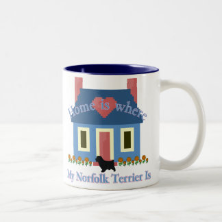 Norfolk Terrier Home Is Two-Tone Coffee Mug
