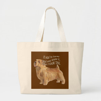 norfolk terrier large tote bag